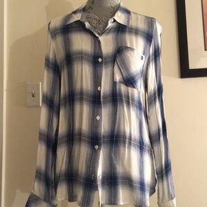 Tommy Hilfer Blue Plaid Flannel